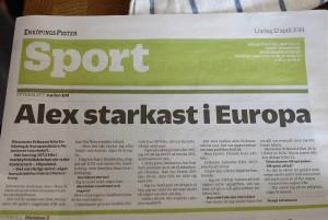 Alex starkast i europa